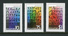 Singapore Scott #375-377 MLH Sports for All CV$5+