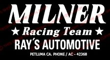 "American Graffiti ""Milner's Racing Team"" John Milner decal sticker Hot Rod"