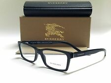 Authentic BURBERRY BE2108 3001 Black 54/16/140 Full Rim Men's RX Eyeglasses