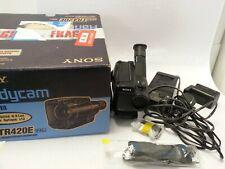 Sony Handycam Video 8 Recorder CCD-TR420E PAL  W/ Power Supply & Box #259