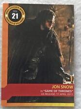 Jon Snow IMDB TRADING CARD SDCC 2016 San Diego Comic Con Game of Thrones #21