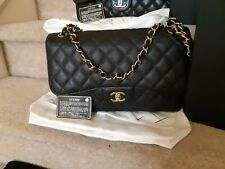 Chanel Jumbo double Flap Black Caviar with Gold Hardware