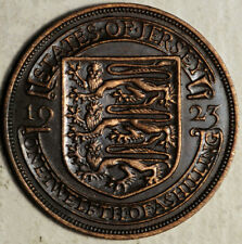 JERSEY 1/12 SHILLING 1923 (TWO-YEAR TYPE!)
