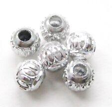Aluminium Perlen Alu Kugeln Stardust silber 6//8//10mm 20//100 Stück SERAJOSY