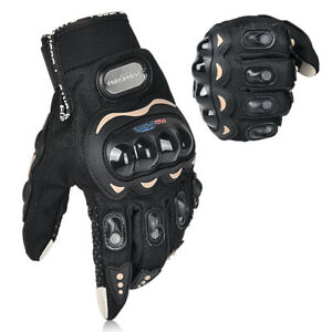 Motorcycle Gloves Mens with Hard Knuckle Protection, amtungsaktive Sport Gloves