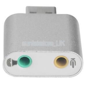 Aluminum USB External Stereo 7.1 Channel 3D Sound Card Adapter