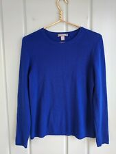 Charter Club Womens Medium Sweater 2 Ply 100% Cashmere Pullover Blue Long Sleeve
