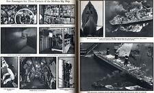 S S Leviathan SOUTHAMPTON DOCKS Ile de France BREMEN 1930 Magazine Article