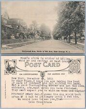 EAST ORANGE N.J. HOLLYWOOD AVENUE ANTIQUE 1911 POSTCARD