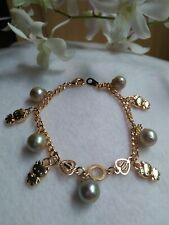 Auth SOUTH SEA PEARL Bracelet with Hello Kitty Charms in Micron Setting ON SALE