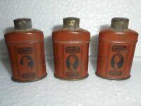3 Pc Vintage Cuticura Talcum Powder Ad Litho Penny/Small Tin Box, USA