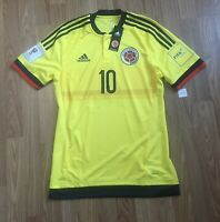 COLOMBIA 2015-2017 JAMES ADIDAS ADIZERO HOME PLAYER ISSUE SOCCER JERSEY SHIRT