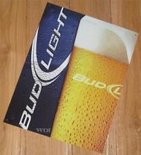 Budweiser Bud Light Beer Glass Bar Club Advertising Tin Poster Sign Wall Plaque