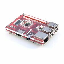Red Acrylic Case for Raspberry Pi 3 Model B VaultPi