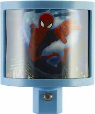GE 13377 Marvel Ultimate Spider-Man Light-Sensing LED Night Light, Red/Blue