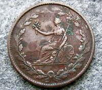 GREAT BRITAIN 1809 - 1810 HALFPENNY TOKEN, British Copper Company - Brutus