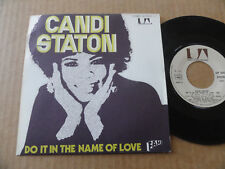"""DISQUE 45T DE CANDI STATON  """" DO IT IN THE NAME OF LOVE """""""