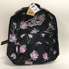 Vans Authentic Realm Floral Paradise Black Backpack School Laptop Bag Rare SEE..