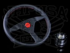 MOMO STEERING WHEEL MONTE CARLO 320MM BLACK/RED & NRG 2.0 QUICK RELEASE COMBO