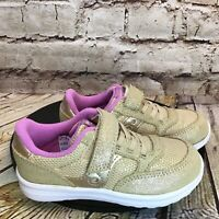 Saucony S Baby Jazz Gold Suede Sneakers Size 9.5 M Toddler