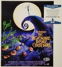 Ken Page signed Nightmare Before Christmas 8x10 Movie Poster Photo Auto~ BAS COA
