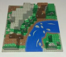 Raised Lego Base plate #6024px5 Canyon From Set 6584 River Green Browns