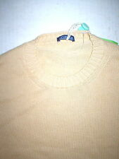 New Mens XL 42 NWT Designer Malo Sweater Beige 52 Italy Light Camel Jumper Knit