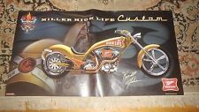 Beer Poster Miller High Life ~ Kendall Johnson Customs MOTORCYCLE CHOPPER