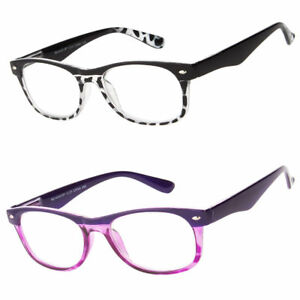 New Retro Small Reading Glasses Clear Lens Women Spring Hinges Readers