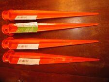"4 - 16"" Orange Ground Stake Sticks   *** FREE SHIPPING *** ( PO-52 )"