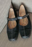 Womens Rockport Powered By DMX Loafer Shoes Black Suede Mary Jane Size UK 6