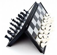 Happy GiftMart Mini Magnetic Travel Chess Set with Folding Board Educational Toy