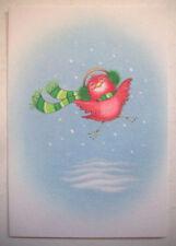 6 Happy baby cardinal earmuffs scarf unused Christmas greeting cards Hallmark