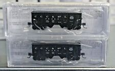 """N Scale BLUFORD SHOPS 62082 BIG FOUR - NYC 30' 6"""" 2-Bay Open Panel Side Hoppers"""
