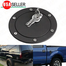 For 2004-2008 Ford F150 Matte Black Fuel Gas Filter Tank Door Cap W/ Lock+Key