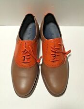 Cole Haan Orange and Tan Leather Saddle Shoes, NWOB, Size 8M