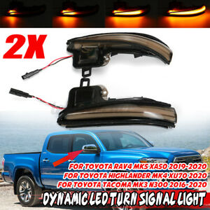 Dynamic LED Side Mirror Turn Signal Sequential Light For Toyota Tacoma N300 16-