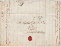 1849 prefilatelica con testo da Bologna x Bibbiena - Sacro Monte della Vernia