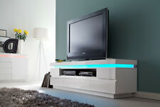 Ocean typ 82 - white living room tv stand with shelves / tv cabinet