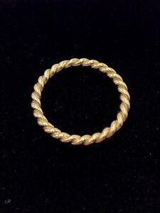 Genuine Pandora Ring, 14K Gold Twist #150140 - DISCONTINUED