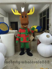 Christmas Deer Mascot Costume Adults size Deer Fancy Dress party game outfits