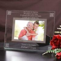 Personalized Glass Memorial Picture Frame Never Forgotten Engraved Photo Frame
