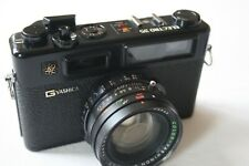 YASHICA ELECTRO 35 GTN 35MM FILM RANGEFINDER CAMERA WITH 45MM F/1.7 LENS - BLACK