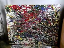 GRAFFITI ABSTRACT ~CANVAS PAINTING BY MUSK YAI 16X20 ooak Hand-painted 2014 NYC