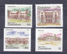 ZIMBABWE, 2015, HISTORIC HOTELS, MNH SET 4, MEIKLES, VICTORIA FALLS ETC.