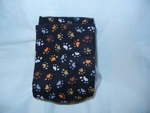 """Dog Puppy Belly Band Wrap Contour Diaper Male Puppy Flannel lined 18"""" BIG PAWS"""