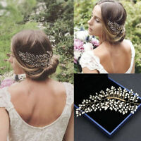 Handmade Gold Pearls Hair Vine Bridal Hair Comb Wedding Headpieces Hair Jewelry