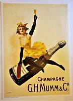 MUMM & CO. CHAMPAGNE Huge ORIGINAL Stone LITHOGRAPH Limited Edition