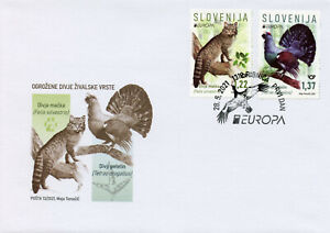 Slovenia 2021 FDC Europa Stamps Endangered Natl Wildlife Capercaillie 2v Set