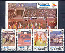 Olympiade 1992, Olympic Games - Gambia - 4 Werte, 1 Bl. ** MNH Teilsatz
